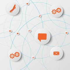 Vector abstract infographic network template