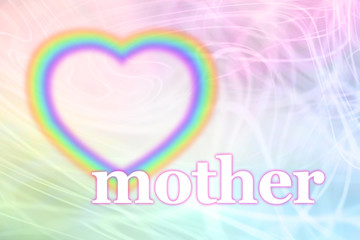 Special Mother Rainbow Heart Frame Background