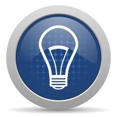 bulb blue glossy web icon