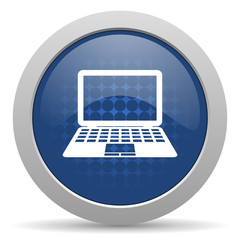 computer blue glossy web icon