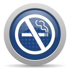 no smoking blue glossy web icon