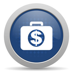 financial blue glossy web icon