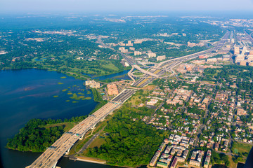 Washington DC aerial view in USA