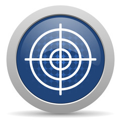 target blue glossy web icon