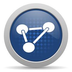 chemistry blue glossy web icon