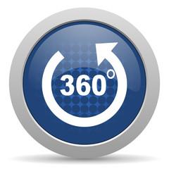 panorama blue glossy web icon