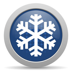 snow blue glossy web icon