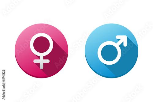 Fototapeta Female & Male Tags