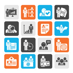 Silhouette Human resource and employment icons