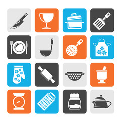 Silhouette Cooking Equipment Icons