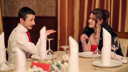 Flirting Couple in a Restaurant 2
