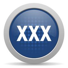 xxx blue glossy web icon