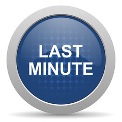 last minute blue glossy web icon