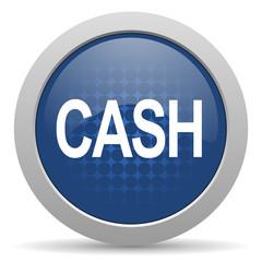 cash blue glossy web icon