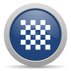 chess blue glossy web icon