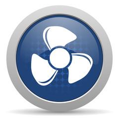 fan blue glossy web icon