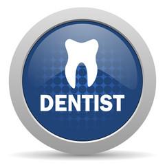 dentist blue glossy web icon