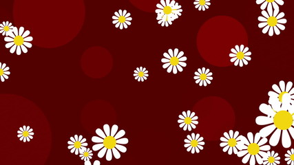 red abstract loop motion background, flower