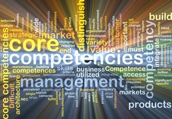 core competencies wordcloud concept illustration glowing