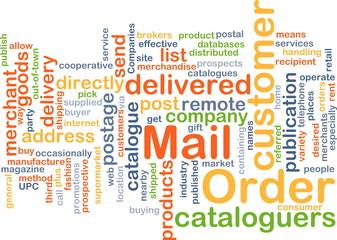 mail order wordcloud concept illustration