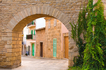Alcudia Old Town fortress wall in Majorca Mallorca