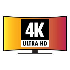 4K Ultra HD Modern Curved Screen Smart TV