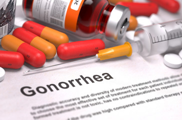 Gonorrhea Diagnosis. Medical Concept.