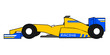 Yellow formula car - 81744338
