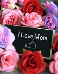 I love mom sign