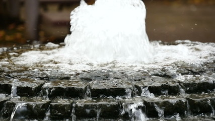 Variation of slow motion water fountain action.