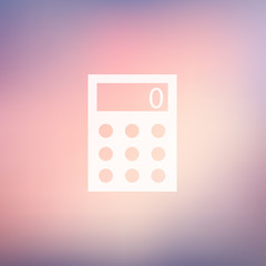 Calculator in flat style icon