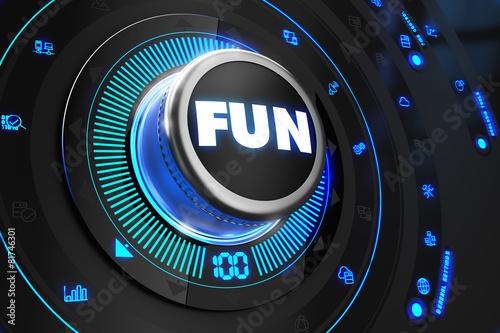 Fun Controller on Black Control Console.