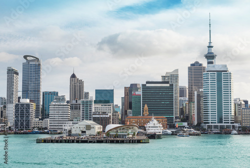 Tuinposter Nieuw Zeeland Auckland view at the noon