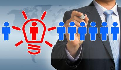 idea makes you different concept