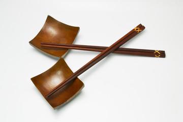 chopstick and wood