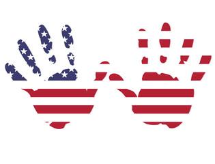 hands american flag