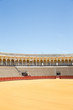 Постер, плакат: Bullfight arena plaza de toros in Seville La Maestranza