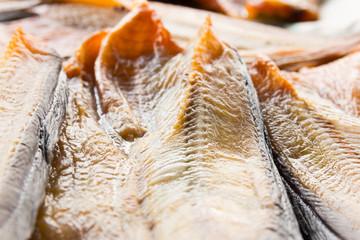 close up of raw dried catfish