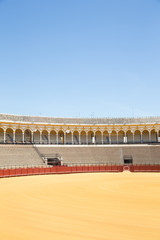 Bullfight arena, plaza de toros in Seville,La Maestranza