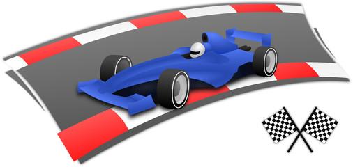 F1 racing car on the circuit