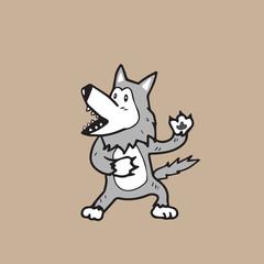 Warewolf cartoon