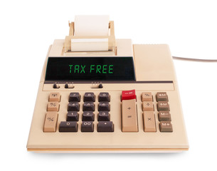 Old calculator - tax free