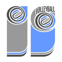 The background image on the subject of  volleyball
