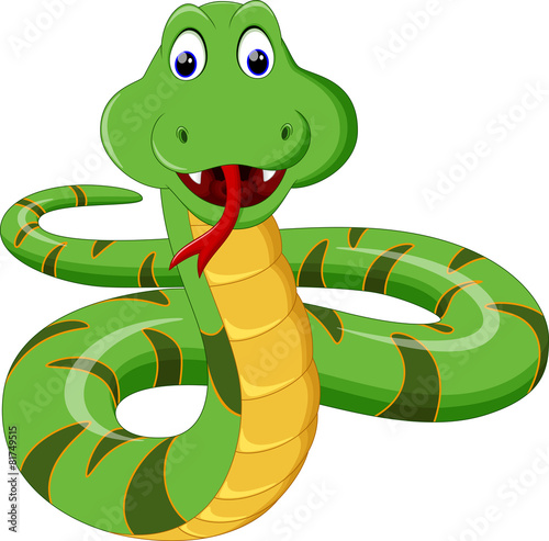 Illustration of Cartoon Snake - 81749515