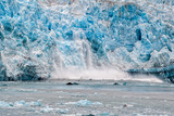 Hubbard Glacier while melting in Alaska