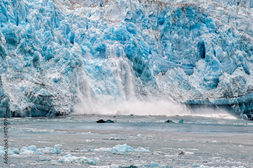 In de dag Gletsjers Hubbard Glacier while melting in Alaska