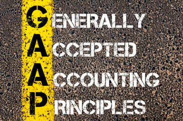 Business Acronym GAAP – Generally Accepted Accounting Principles