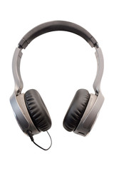 Headphones isolated under the white background