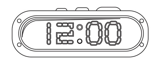 Alarm Clock Drawing Vector