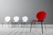 Leinwanddruck Bild - Konzept kreative Führung und Außenseiter